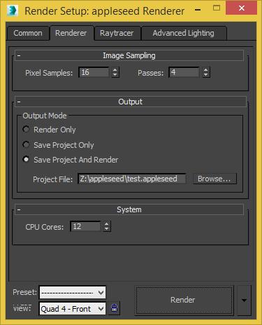3ds Max Plugin Development - Work In Progress - appleseed